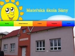 Mateřská škola Sány
